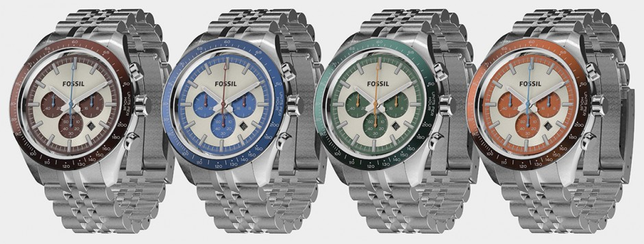 Fossil watches rendered in KeyShot