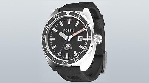 Fossil Breaker watch rendered in KeyShot