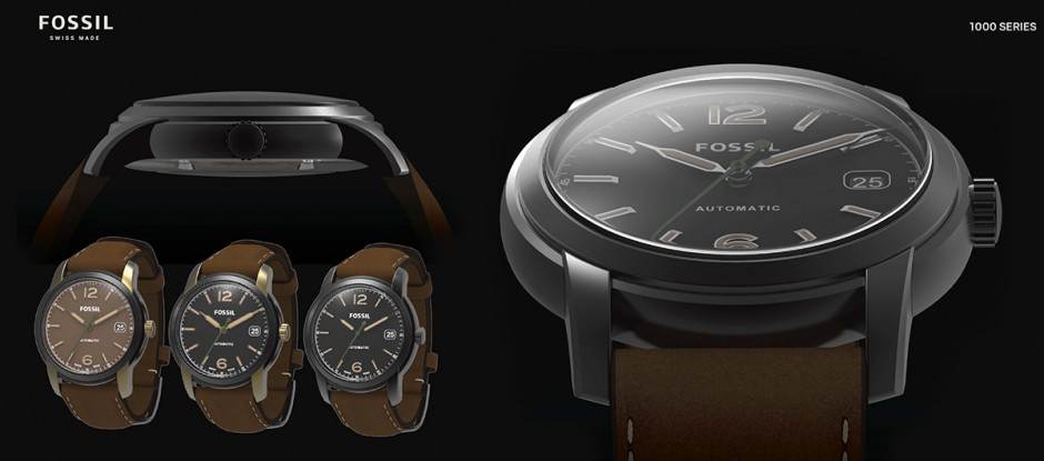 Fossil Swiss Made rendered in KeyShot
