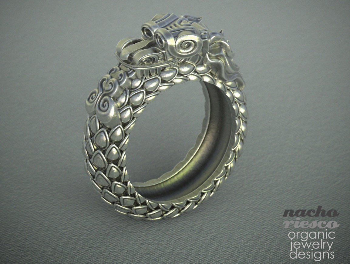 jewelry-nacho-riesco-keyshot-feathered-snake-ring