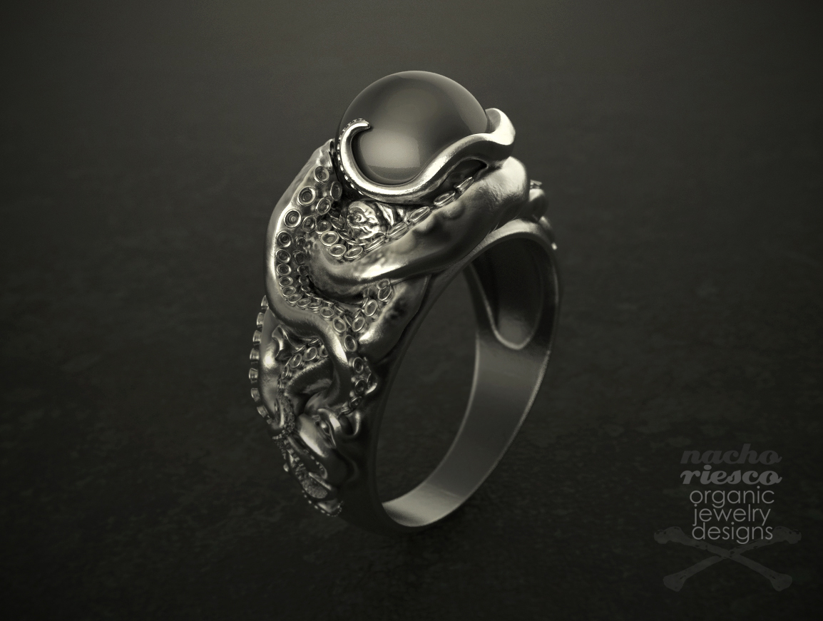 jewelry-nacho-riesco-keyshot-kraken-ring