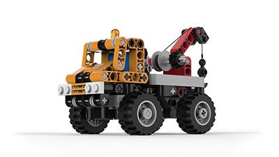 keyshot-lego-truck