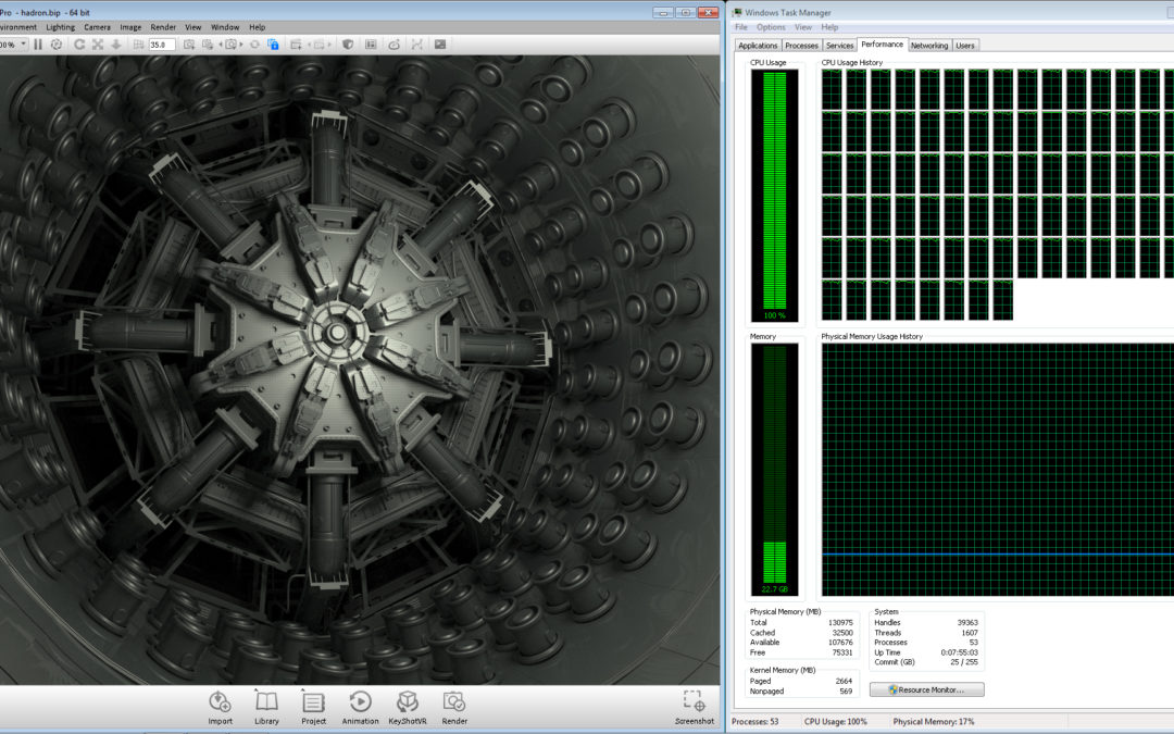 Luxion Confirms Rendering Power of CPU Over GPU with new Intel® Xeon® Processor E5-2699 v4