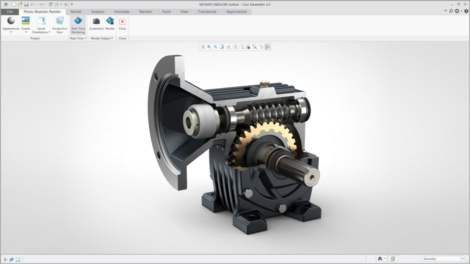New visualization capabilities in Creo 4 ARX support KeyShot materials and direct import to KeyShot.