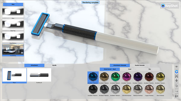 KeyShot Brush/Shave Configurator