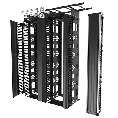 Legrand rack exploded view rendered in KeyShot